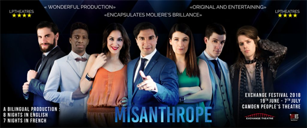 banner play misanthrope moliere simeon oakes samuel arnold anoushka rava david furlong fanny dulin james buttling léo elso