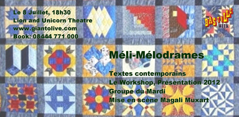 bannière spectacle théâtre méli mélodrames le workshop